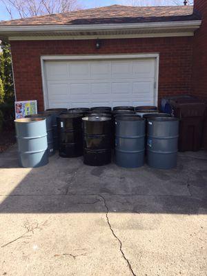 55 Gallon Metal Burn Barrels for Sale in Grosse Pointe Park, MI
