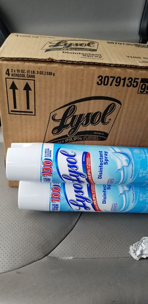 (16cans) Lysol Disinfecting Spray 19oz for Sale in Seattle, WA