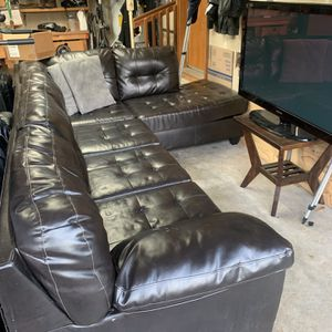 Leather Couch Sectional - PICK UP ONLY for Sale in Tacoma, WA