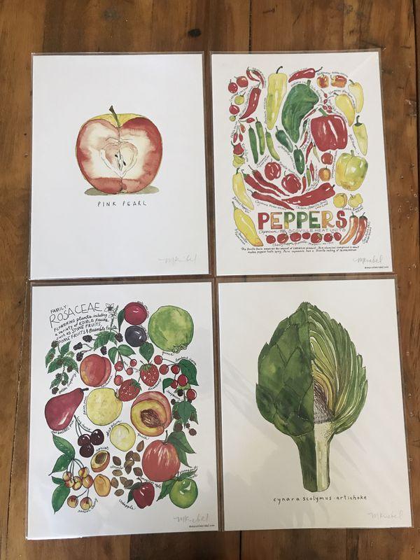 "9""x12"" Marcella Kriebel Art + Illustration Food Art Prints"