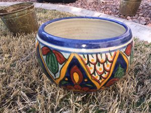 Small Mexican Talevera flower pot Home decor vase for Sale in Henderson, NV