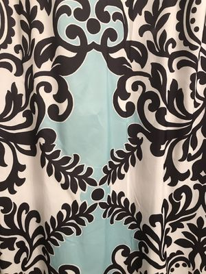 Shower Curtain with coordinated turquoise rug for bathroom for Sale in Washington, DC