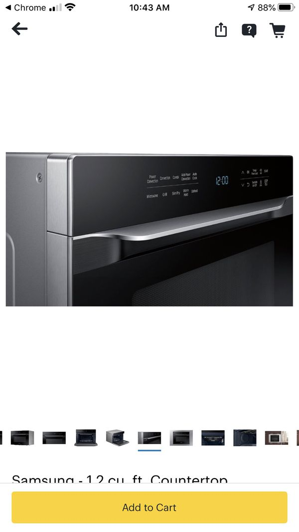 Samsung MC12J8035CT 1.2 Cu. Ft. Black Countertop/Built-In Microwave - Convection