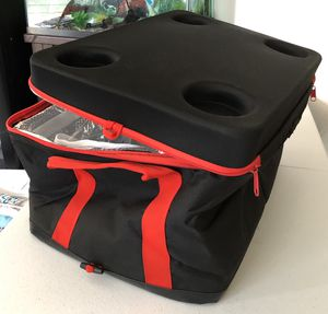 Foldable cooler with 4 cup holder. Never used. for Sale in Montclair, CA