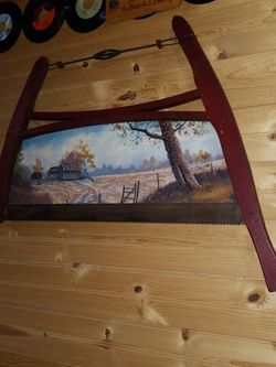 Antique Rustic Painted Buck Saw for Sale in Port Charlotte,  FL