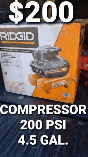 Ridgid compressor for Sale in Fontana, CA