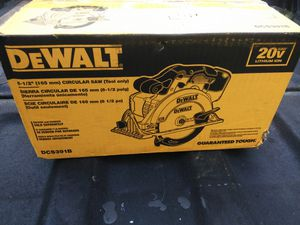 DeWalt Circular saw tool only new for Sale in Tampa, FL