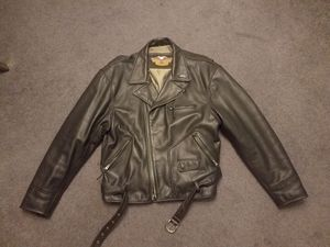 Harley motorcycle leather jacket for Sale in Ridgefield, NJ