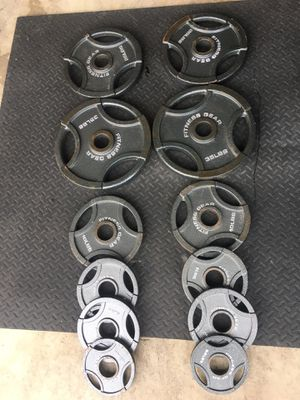 Olympic weight plates 165 pounds for Sale in Chicago, IL