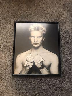 STING FRAMED PORTRAIT  for Sale in Rialto, CA