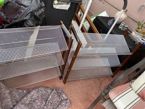 Metal shelves shoe racks $20 ea both $30 for Sale in Davie, FL