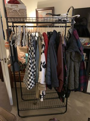 Coat rack with shoe and storage shelves for Sale in Seattle, WA