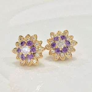 Gold plated floral studs for Sale in Silver Spring, MD