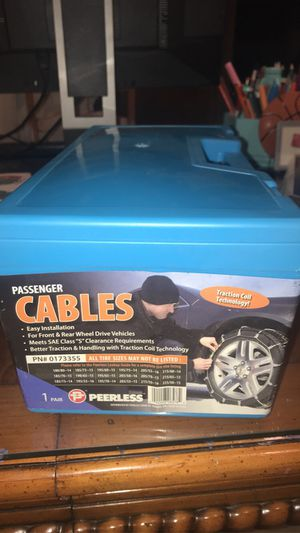 Passenger Cables (Snow) for Sale in Upland, CA