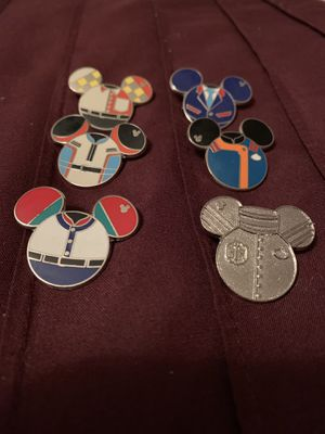 DISNEY CAST MEMBER RIDE OUTFIT PINS! TOWER OF TERROR INCLUDED! for Sale in Fullerton, CA