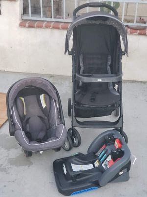 Graco stroller with baby seat and base easy to remove for Sale in Anaheim, CA