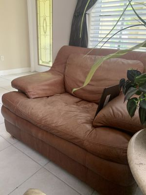 Free and comfy and FREE leather chair for Sale in West Palm Beach, FL