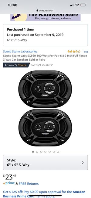 Sounds storm 6x9 ( 2 sets = 4 total speakers) for Sale in Garden Grove, CA