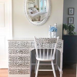 Redesigned Vintage Ethan Allen Vanity Table And Chair for Sale in Lemont, IL