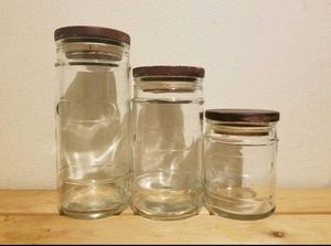 3 Glass Canisters for Sale in Vancouver, WA
