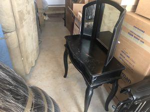 Black Wooden Vanity for Sale in Aldie, VA