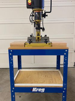 POWERMATIC 701 Benchtop Mortiser Bolted To Kreg Stand & Caster Set With 4 Mortise And Chisel Bits for Sale in Lafayette,  CA