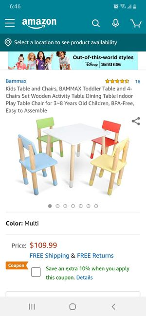 Kids table an chairs for Sale in Victorville, CA