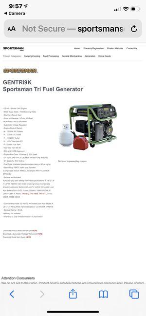 Sportsman 7200 Generator for Sale in Austin, TX