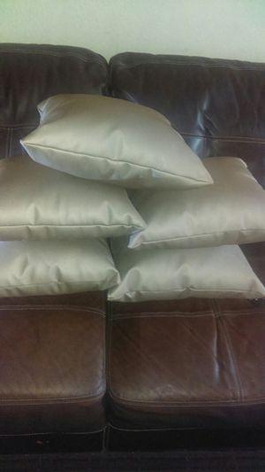 Almuaditas para sofa size 17X17 de material de vinyl new never used for Sale in Baldwin Park, CA