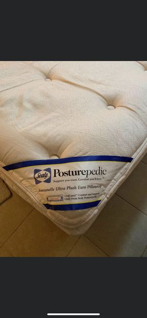 Super comfy king size bed , mattress boxspring frame for Sale in Brooksville, FL