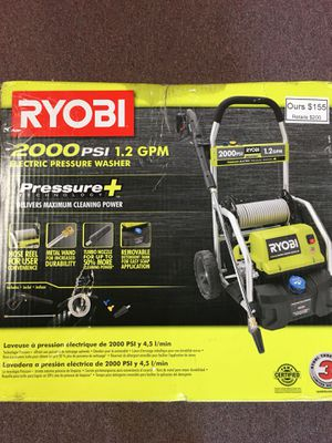 New Ryobi 2000 PSI Electric Pressure Washer for Sale in Waltham, MA