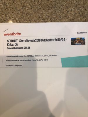 Octoberfest 2 Tickets $57. Each for Sale in Chico, CA