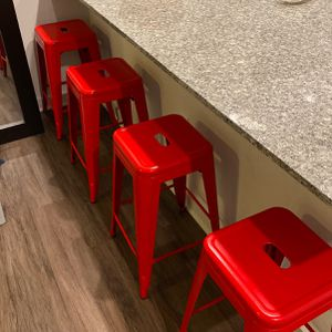24inch Bar Stools, Set Of Four (4), (Red) for Sale in Atlanta, GA
