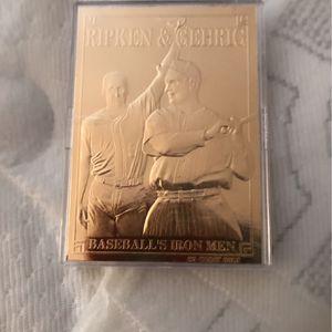 Golden baseball card for Sale in Woodbridge, VA