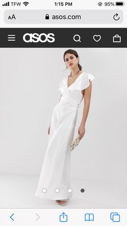 Size 12 YAS Wedding, Baptism, all white dress for Sale in Everett,  WA