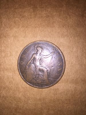 1913 UK penny OBO go for $30 online for Sale in Wenatchee, WA