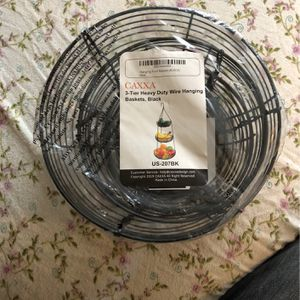 3 Tier Heavy Duty Wire Hanging Basket For Fruit Produce Etc for Sale in Vancouver, WA