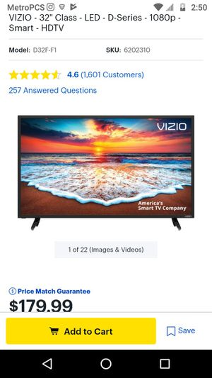 2019 Vizio 32 inch TV and Vizio wireless soundbar With built in Chromecast for Sale in Sacramento, CA