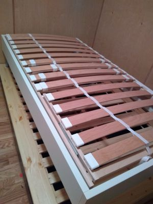 Ikea white adjustable twin mattress/bed frame for Sale in Lakebay, WA