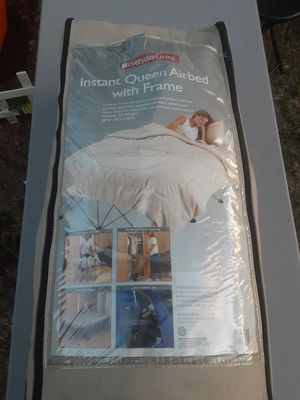 Queen size air mattress with frame & bag for Sale in PT ORANGE, FL