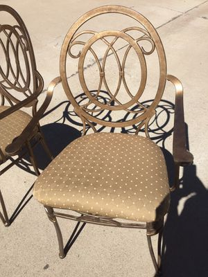 Vintage Metal Arm Chairs- Mid Century Mod and Great Details for Sale in Young, AZ