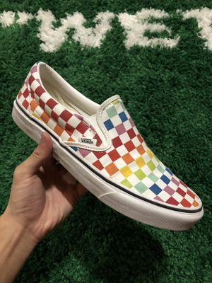 Vans Slip-On Rainbow Checkered for Sale in Mansfield, TX