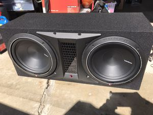 """Dual 12"""" Rockford Fosgate Subwoofers and 1500 W Amp for Sale in Whittier, CA"""
