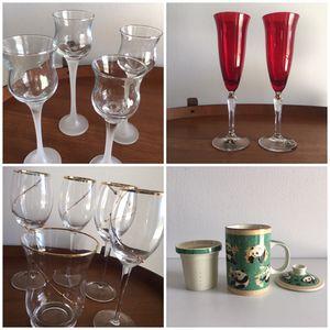 Wine Glasses, Champagne Flutes, Tea Infuser Mug, Votive Holders for Sale in FL, US
