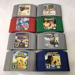 Nintendo 64 n64 video game cartridges for Sale in Rockville, MD