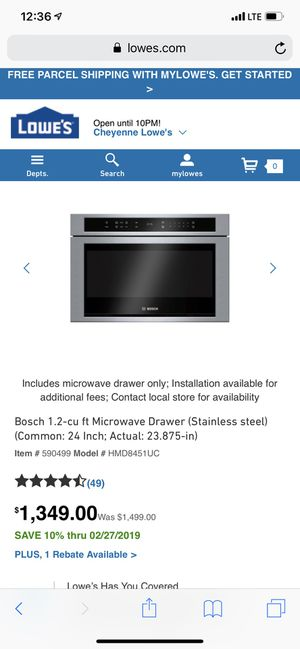 Huge Bosch microwave drawer type for Sale in Laramie, WY