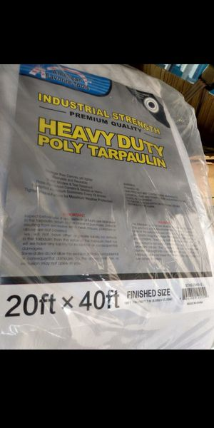 20x40ft. Heavy duty industrial white tarp new $75.00 for Sale in Los Angeles, CA