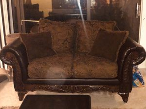 Couch set with Cherry Wood/ Must Go End of Month for Sale in Silver Spring, MD