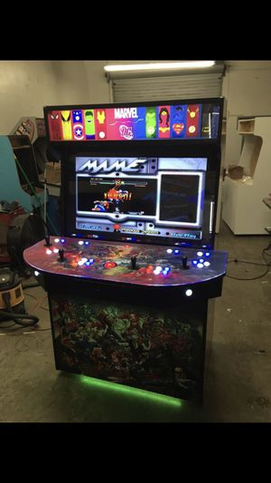 "Advanced Arcade 4 Player, 40"" HD LCD 6000+ games MAME LaunchBox BigBox Pinball for Sale in Santa Fe Springs, CA"