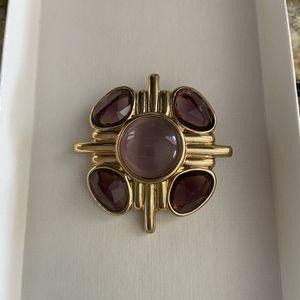 Purple and Goldtone Cluster Brooch for Sale in Bradenton, FL